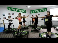 Jumping fitness. Джампінг. Джампинг. Скай джампинг. Фитнес на батуте - YouTube Mini Trampoline Workout, Pcos Diet Plan, Rebounding, Zumba, Hiit, At Home Workouts, Things That Bounce, Health Fitness, Weight Loss