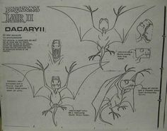 Don Bluth Dragons Lair II of The Dacaryii Animation Model Sheet Drawing Cel | eBay