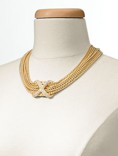 Talbots - Chain Link & Pavé Necklace | Jewelry |