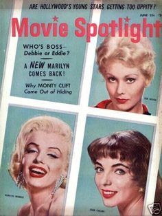 Movie Spotlight magazine 06-1956. Front cover photo of Marilyn Monroe.