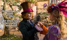 Alice Through the Looking Glass – Another Tim Burton Classic with a Surprising Cameo. A sequel to the 2012 Disney film with Johnny Depp. Mia Wasikowska, Alice Quotes, Disney Quotes, Movie Quotes, Alice And Wonderland Quotes, Adventures In Wonderland, Lewis Carroll, Tim Burton, Johnny Depp
