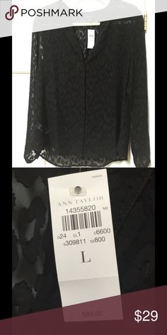 Ann Taylor lace blouse Awesome lace blouse - can be worn over a camisole - dress it up with a skirt or down with jeans. Ann Taylor Tops Blouses