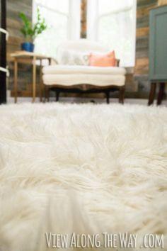 DIY flokati rug tutorial! This is brilliant!