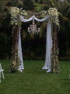 new Ideas for backyard wedding decorations ceremony backdrop hanging flowers Wedding Arbors, Wedding Arch Rustic, Wedding Ceremony, Our Wedding, Wedding Venues, Dream Wedding, Trendy Wedding, Wedding Backyard, Arbors For Weddings