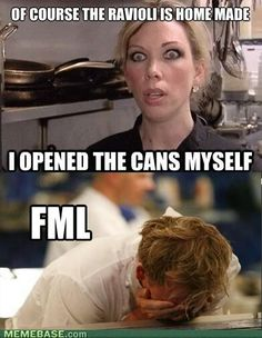 The Hell's Kitchen and Top Chef star is one of the most accomplished chefs on the planet, so why is he so pissed off? Hells Kitchen Meme, Kitchen Memes, Gordon Ramsay Funny, Gordon Ramsay Quotes, Chef Gordon Ramsey, Funny Quotes, Funny Memes, Jokes, Funniest Memes
