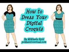 How to dress your digital croquis by Mikhaela from Polka Dot Overload