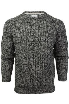 quality design 74cfb a7e3d Mens Jumper Fashion Chunky Fisherman Fleck Knit Long Sleeve by Xact-Main  Image Mens Jumpers