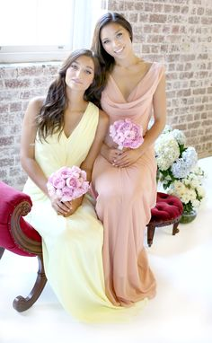 MIRANDA dress in lemon sorbet www.stylaandco.com.au/miranda/ ANGELINA dress in caramel www.stylaandco.com.au/angelina/