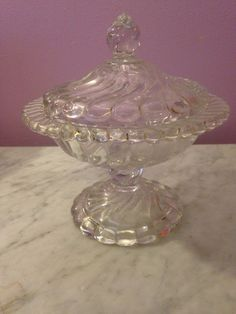 Fostoria Candy Jar And Lid In Colony | eBay