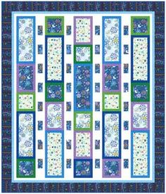 Dozens of free quilt patterns (this particular one is Abalone Cove Free Quilt Pattern by Maywood Studio at Bear Creek Quilting Company) Quilting Tutorials, Quilting Projects, Quilting Designs, Sewing Projects, Quilting Ideas, Strip Quilts, Easy Quilts, Quilt Blocks, Blue Quilts