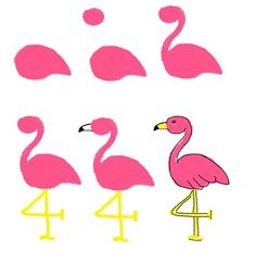 how to draw on food: palm trees and flamingos (Florida or bust) - The Decorated CookieThe Decorated Cookie