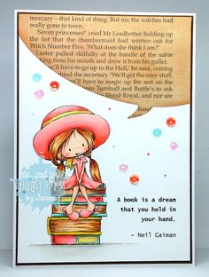 Tiddly Inks Design Team card coloured with Copic Pens - Crafting Crackers Copic Pens, Copics, Copic Markers, Tiddly Inks, Book Background, Textiles, Digi Stamps, Kids Cards, Making Ideas