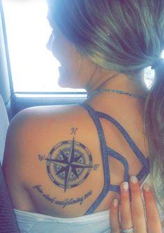 """Fair winds and following seas."" Nautical Blessing & Compass Tattoo #compass #tattoo"