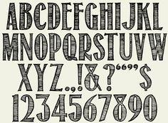 Cursive Letter Stencils