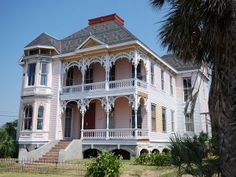 MCKINNEY-MCDONALD-LEE HOUSE, 926 Winnie St, Galveston, TX. The two-and-one-half-story 1890 house is a survivor of many tragedies including the 1900 and 1915 Storms. Featuring unique architectural elements including a two-story front bay window that culminates in an open turret, this property is one of Galveston's unique architectural treasures. In 1993, the house burned in a fire and was left almost abandoned. 03.16.2010