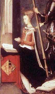 Margaret of Denmark June 1456 – before 14 July was the Queen Consort of Scotland from 1469 to 1486 as the wife of King James III of Scotland. Margaret became a popular queen in Scotland and was described as beautiful, gentle, and sensible. European History, Women In History, British History, Family History, Moda Medieval, Medieval Books, Westerns, Renaissance, Danish Royalty