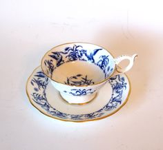 Another beauty. I like the birds.  Vintage Coalport Fine Bone China Blue and White by HouseofLucien, $25.00