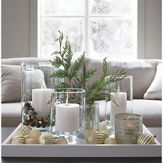 London Glass Hurricane Candle Holders - Home Decor Ideas - . - London Glass Hurricane Candle Holders – Home Decor Ideas – - Decoration Table, Xmas Decorations, Centerpiece Ideas, Candle Centerpieces For Home, Pinecone Centerpiece, Diy Candle Arrangements, Candle Display Ideas, Short Glass, Decorating Coffee Tables