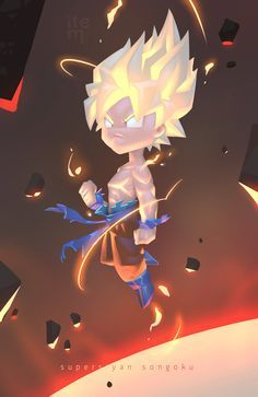 super saiyan son goku, Chakrit Nonkome on ArtStation at… Manga Anime, Anime Art, Character Art, Character Design, Son Goku, Super Saiyan, Fan Art, Pokemon, Anime Characters