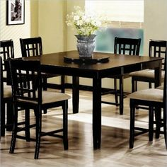 101898NSET5 Geneva 5pc Counter Height Dining Set (Table and 4 by Coaster Home Furnishings. $759.05. Create an updated dining area in your home with this counter height dining table Perfect for pairing with the coordinating ladder back or grid back bar stools this table provides a comfortable and stylish place to sit and enjoy a casual meal with fam...