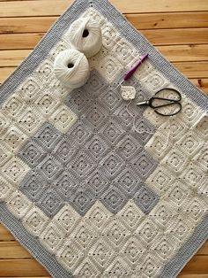 Patrón de ganchillo: Manta granny corazón de Maria Atelier | El blog de Dmc | Bloglovin' Crochet Granny, Blog, Crochet Patterns, Embroidery, Blanket, Squares, Heart, Google, Ideas