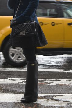 Givenchy boots + Chanel bag =