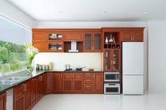 Tủ bếp gỗ tự nhiên - Sự lựa chọn thông minh cho phòng bếp