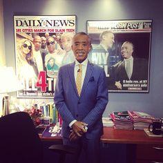 Rev. Al Sharpton in his office.