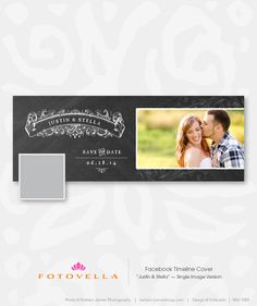 Facebook Template - Save-the-Date Timeline Cover by fotovella #Etsy.