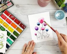 How to Paint Easy Watercolor Flowers Tutorial - Fox + Hazel for Dawn Nicole Designs 26