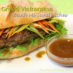Such a wonderful switch from burgers or sandwiches. Grilled Vietnamese Bahn Mi Sandwiches - thecafesucrefarine.com