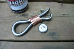 FORGED BOTTLE OPENER Hand forged by Blacksmith Naz  by NazForge, $28.50