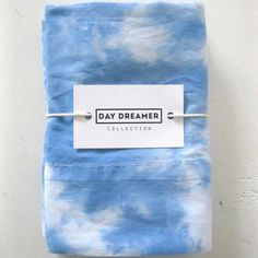 Keep your head in the clouds! SKY handmade 'Day Dreamer' pillowcases new in shop skyvandh.com