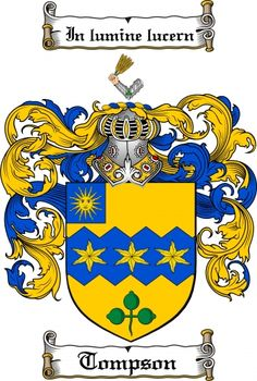 Tompson Coat of Arms Tompson Family Crest Instant Download - for sale, $7.99 at Scubbly