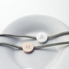 Personalised Always With You Bracelet Grey