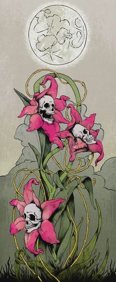 Skulls Flowers.