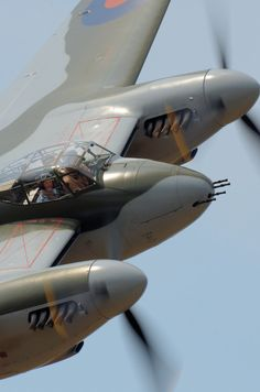 DeHavilland Mosquito. With 4 .303 machine guns, 4 20mm cannon, 8 60mm rockets and a top speed of 400mph, it was formidable.