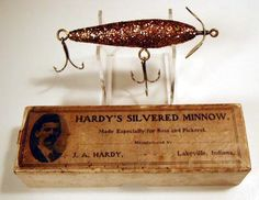 J.A. Hardy's Minnow with Box. c. 1910, Lakeville, Indiana.