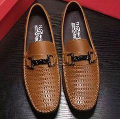 24c66cb557eab Ferragamo Gancio Bit Driver Moccasin 13295 Brown Mens Fashion Shoes