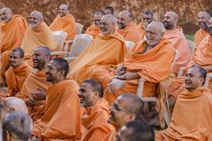 Sadhus share a light moment with Swamishri 30 September, 30th, Two By Two, In This Moment, Couple Photos, Couple Shots, Couple Photography, Couple Pictures