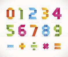 """Résultat de recherche d'images pour """"chiffre en origami"""""""