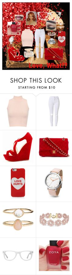 """""""Love?? What's That??"""" by bukkyonibokun ❤ liked on Polyvore featuring WearAll, Chanel, Marc Jacobs, Accessorize, BaubleBar, Muse, Benefit and Zoya"""