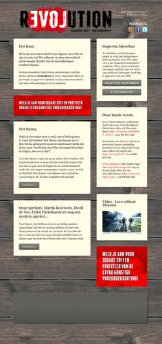 email-newsletter templates by Leo Oosterloo, via Behance // use of background, content blocks floating