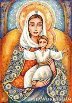 Heavenly Grace, Madonna and Child Mary Jesus Mother, Blessed Mother Mary, Mary And Jesus, Divine Mother, Mary Magdalene And Jesus, Jesus And Mary Pictures, Mother Mary Images, Virgin Mary Painting, Virgin Mary Art