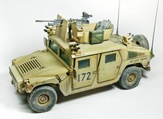 US M1114 Up-armored Tactical Vehicle, BRONCO MODELS 1/35 scale. By Martin Vrabcek. #HUMVEE #scale_model http://www.track-link.com/gallery/9855