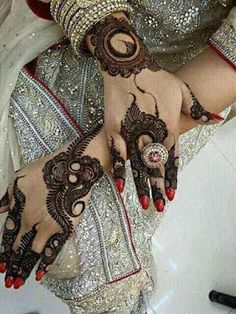 bridal stylish beautiful full hand mehndi designs 6