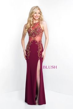 Jersey sheath with hand beaded illusion bodice and back