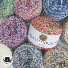Comfy Cotton Blend - コンフィコットンブレンド の商品詳細ページです。輸入毛糸と編み物グッズ*チカディー*はRed HeartやSugar'n Cream など、アメリカやカナダのカラフルな輸入毛糸や、海外の楽しい編み物グッスを扱う通販ショップです。 Yarns, Easter Eggs, Cotton