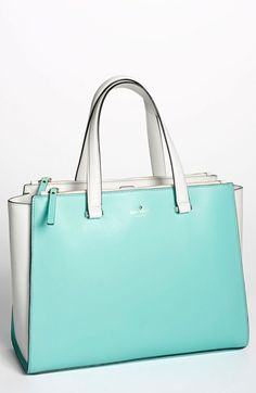 Tiffany Blue ... Very pretty.   kate spade new york 'battery park city - evalyn' leather tote available at #Nordstrom