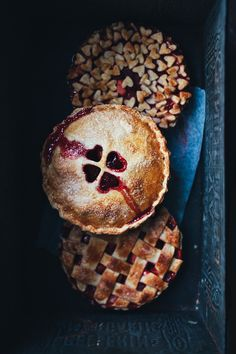Strawberry and apple pies